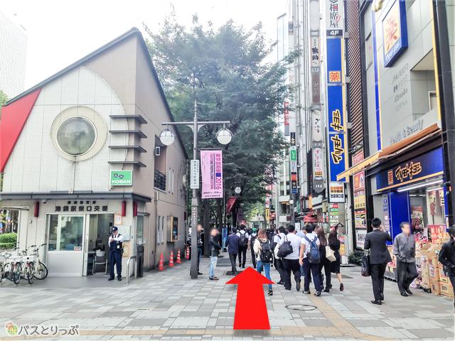 池袋駅東口交番前の歩道.jpg