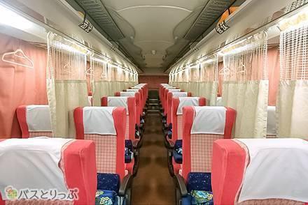 女性専用高速バス車両「チェリッシュ」は4列楽のびシートで快適!【VIPライナーを徹底解説】
