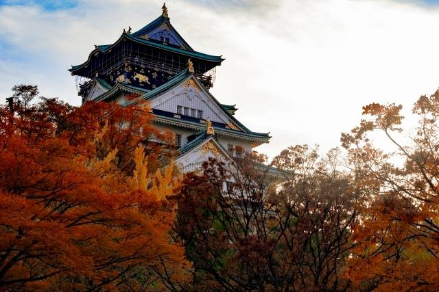 大阪城公園・紅葉